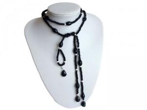 Onyx und Silber Halskette