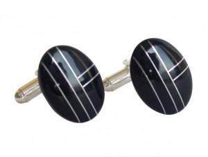 Manschettenknöpfe Onyx 925 Silber
