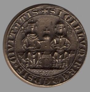 Neuzeitliche Nachprägung eines Stadtsiegels von 1366 aus Bronze