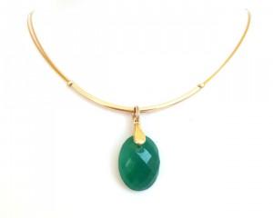 Grüner Onyx Halskette