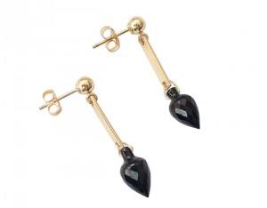 Spinell Tropfen Ohrringe 585 Gold