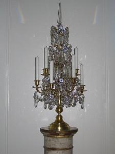 Kristallleuchter mit Feuervergoldung
