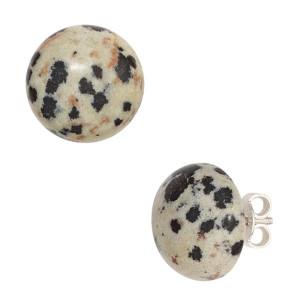 Ohrstecker mit Dalmatinas-Jaspis in 925er Silber aus unserem Sortiment.