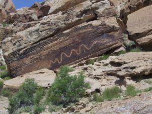 Petroglyphe aus Uta