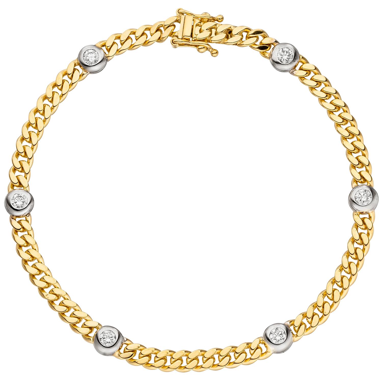 435131c8177c Armband 585 Gelb- und Weißgold mit Diamant-Brillanten 0,60ct. ッ Diamant ッ  Juwelier-Shop24.com