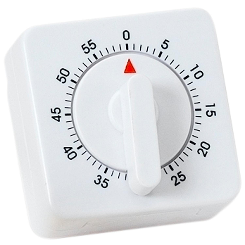 Atlanta Kurzzeitmesser/Küchentimer mechanisch weiß quadratisch ッ ...