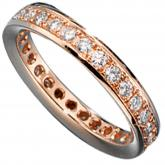 Memory-Ring 14 K (585) Rotgold mit Brillanten 0,75ct.