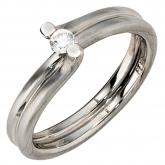 Damenring 950/-Platin  Brillant  0,11ct.