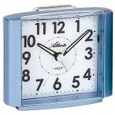 Atlanta Quarz analog Wecker hellblau leise mit Licht