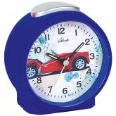 "Atlanta Quarz analog Kinder Wecker ""Auto""  blau"