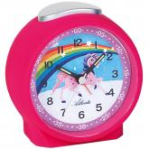 "Atlanta Quarz analog Kinder Wecker ""Einhorn"" pink"