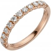 Damen Ring 585 Rotgold mit 12 Brillanten 0,50 ct.